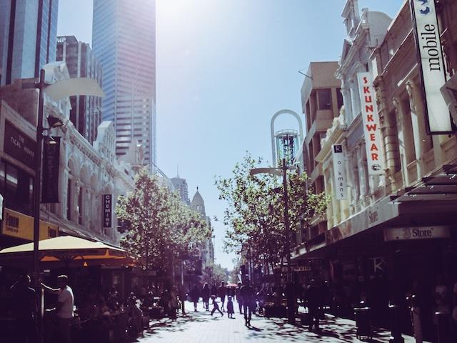perth australien route