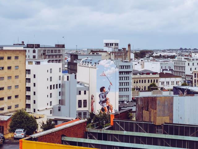 streetart dunedin neuseeland
