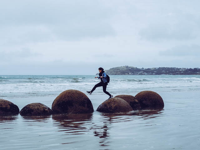 moeraki boulders neuseeland