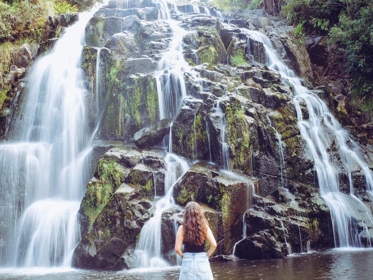 Neuseeland Eastcape Owharoa Falls
