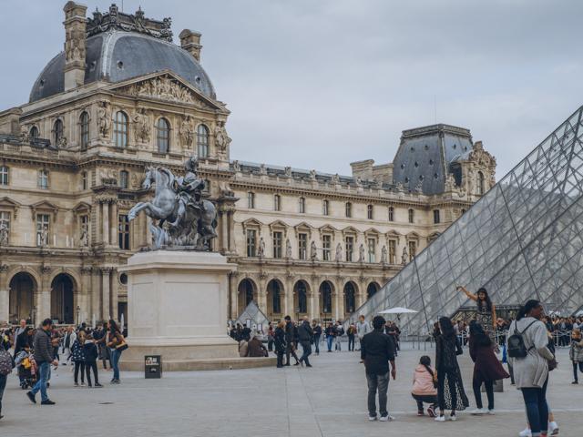 Paris Frankreich Museum Louvre