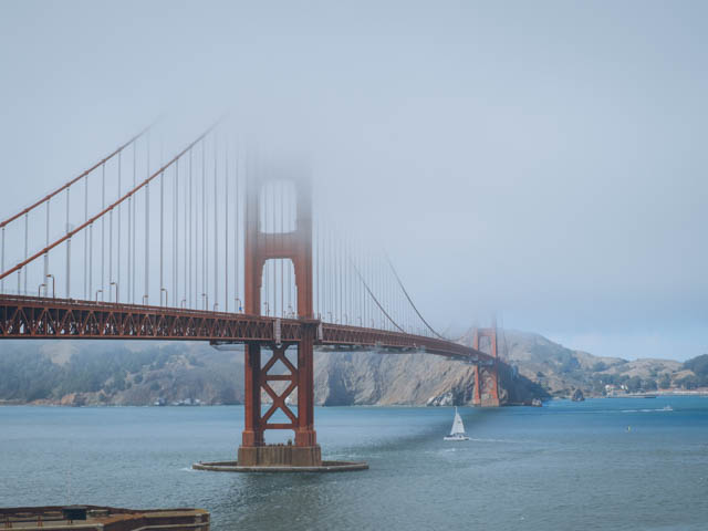 usa rundreise westkueste san francisco golden gate bridge