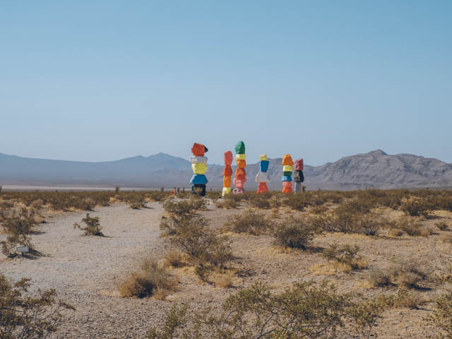 usa rundreise westkueste las vegas 7 magic mountains
