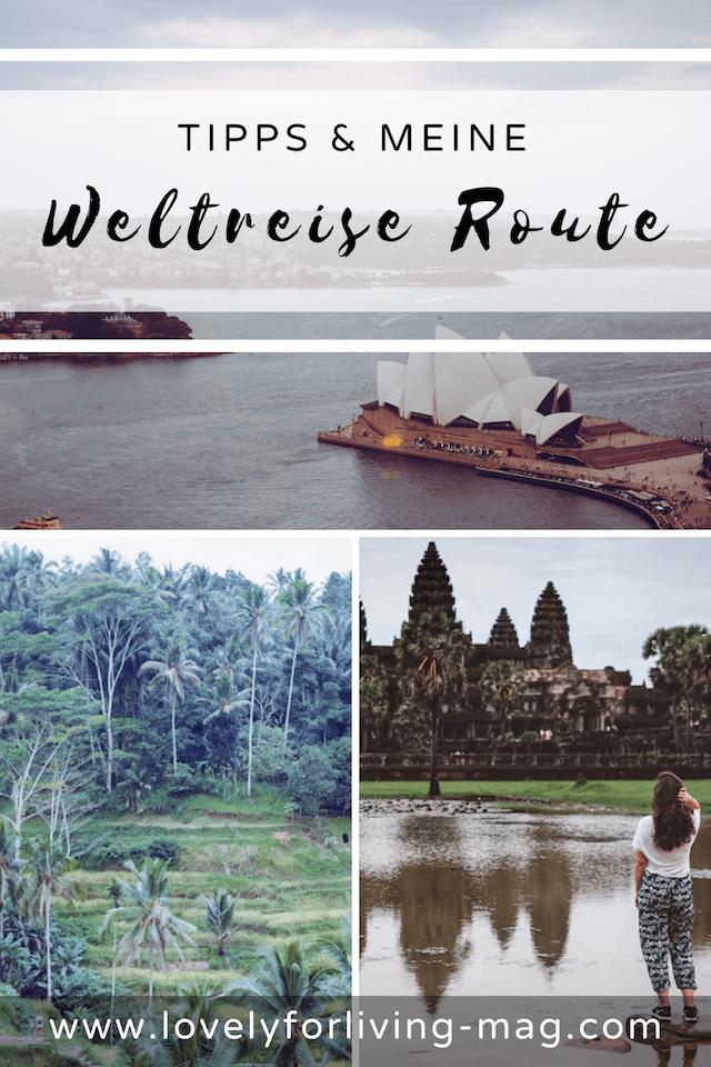 Weltreise Route planen